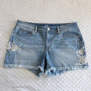 Embroidered cut off jean shorts a.n.a. Size 12